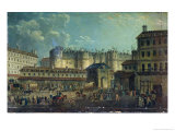 Demolition of the Bastille in 1789 Giclee Print by Pierre-Antoine Demachy
