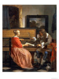 A Man and a Woman Seated by a Virginal, circa 1665 Giclee Print by Gabriel Metsu