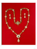 Necklace by Tiffany and Co. New York, 1870 (Diamonds and Enamelled Gilt) Giclee Print