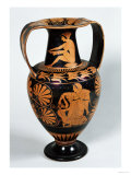 Attic Red-Figure Amphora Depicting a Maenad and a Satyr, by Panphaios (Pottery) Giclee Print