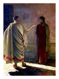 What is Truth (Christ and Pilate) 1890 Giclée-tryk af Nikolai Nikolaevich. Ge