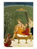 Seventh Incarnation of Vishnu as Rama-Chandra: Rama and Sita Reunited Lámina giclée
