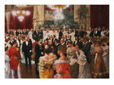 The Viennese Ball Premium Giclee Print by Wilhelm Gause