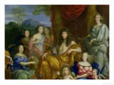 The Family of Louis XIV (1638-1715) 1670 Giclee Print by Jean Nocret