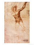 Sketch of a Nude Man Giclee Print by Michelangelo Buonarroti