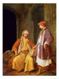 Two Merchants Conversing Reproduction procédé giclée par Jacob Toorenvliet