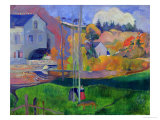 Brittany Landscape: the David Mill, 1894 Reproduction procédé giclée par Paul Gauguin