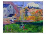 Paesaggio di Bretagna, il mulino David 1894 Stampa giclée di Paul Gauguin