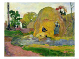 Yellow Haystacks, or Golden Harvest, 1889 Giclee Print by Paul Gauguin