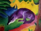 Blue Fox, 1911 Gicléedruk van Franz Marc