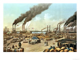 The Levee, New Orleans, 1884 Giclee Print by Currier & Ives
