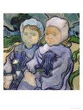 Two Little Girls, c.1890 Giclée-tryk af Vincent van Gogh
