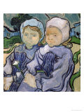 Two Little Girls, c.1890 Giclee Print by Vincent van Gogh