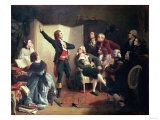 Rouget De Lisle (1760-1836) Singing the Marseillaise at the Home of Dietrich, Mayor of Strasbourg Giclee Print by Isidore Pils