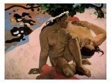 Aha Oe Feii (Are You Jealous), 1892 Giclee Print by Paul Gauguin
