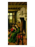 St. Barbara from the Right Wing of the Werl Altarpiece, 1438 Giclee Print by  Master of Flemalle