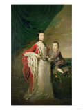 Mary, Countess of Shaftsbury and Her Son, Anthony Ashley Cooper Giclee Print by Joseph Highmore