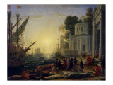 Cleopatra Disembarking at Tarsus, 1642 Giclee Print by Claude Lorrain