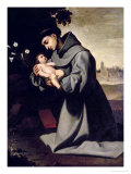 St. Anthony of Padua Giclee Print by Francisco de Zurbarán