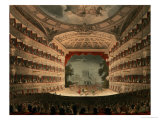 "New Covent Garden Theatre from Ackermann's ""Microcosm of London"" Giclee Print by Thomas Rowlandson"