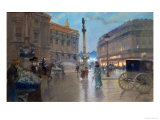Place De L'Opera, Paris Giclee Print by Georges Stein