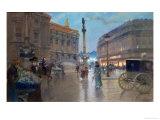 Place De L'Opera, Paris Premium Giclee Print by Georges Stein