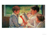 Mrs. Cassatt Reading to Her Grandchildren, 1888 Giclee Print by Mary Cassatt