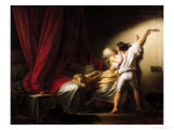 The Bolt, circa 1778 Premium Giclee Print by Jean-Honoré Fragonard
