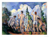 The Bathers, circa 1890-92 Premium Giclee Print by Paul Cézanne