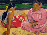 Women of Tahiti, on the Beach, 1891 Reproduction procédé giclée par Paul Gauguin