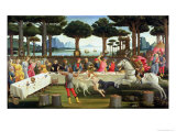 The Story of Nastagio Degli Onesti: Nastagio Arranges a Feast at Which the Ghosts Reappear, 1483-87 Giclee Print by Sandro Botticelli
