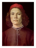 Portrait of a Young Man, circa 1480-85 Giclee Print by Sandro Botticelli