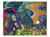 Ladies of Arles (Memories of the Garden at Etten), c.1888 Impressão giclée premium por Vincent van Gogh
