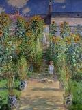 Claude Monet - The Artist's Garden at Vetheuil, 1880 - Giclee Baskı