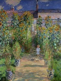 The Artist&#39;s Garden at Vetheuil, 1880 Giclee Print by Claude Monet