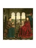 The Rolin Madonna (La Vierge De Chancelier Rolin), circa 1435 Giclée-Druck von  Jan van Eyck