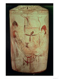Attic Lekythos Depicting Hyphos and Thanatos Carrying a Dead Man, circa 450 BC Giclee Print