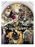 The Burial of Count Orgaz, from a Legend of 1323, 1586-88 Lámina giclée por  El Greco