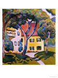 House in a Landscape Giclee Print by Auguste Macke
