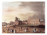 "Queen's Palace, St. James's Park, from Ackermann's ""Microcosm of London"" Giclee Print by Thomas Rowlandson"