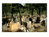 Music in the Tuileries Gardens, 1862 Giclee Print by Édouard Manet