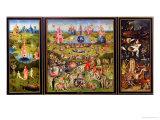 Trädgården av jordiska fröjder, ca 1500 Gicléetryck av Hieronymus Bosch