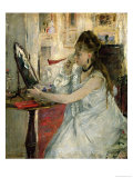 Young Woman Powdering Her Face, 1877 Giclee Print by Berthe Morisot
