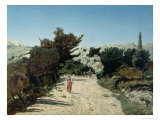 Route De La Gineste, Near Marseilles, 1859 Giclee Print by Paul Camille Guigou