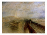 Rain Steam and Speed, the Great Western Railway, Painted Before 1844 Reproduction procédé giclée par William Turner