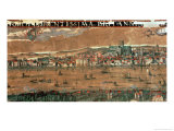 View of London with the Swan, the Rose and the Globe Theatres Giclee Print by Cornelius de Visscher