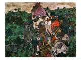 Landscape at Krumau, 1910-16 Giclee Print by Egon Schiele