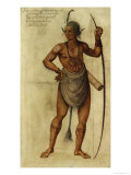Indian Chief, circa 1585 Giclee Print by John White