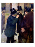 At the Stock Exchange, circa 1878-79 Giclee Print by Edgar Degas
