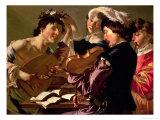 The Concert Giclee Print by Theodore van Baburen